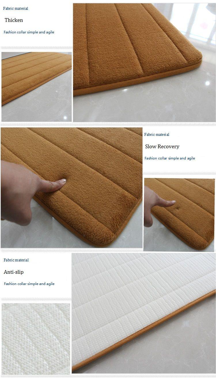 Thick Memory Foam Mat Water Absorbent Memory Foam Carpet Mat