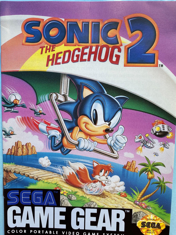 Sonic the Hedgehog 2 Sega Game Gear  Instructions Book | Etsy