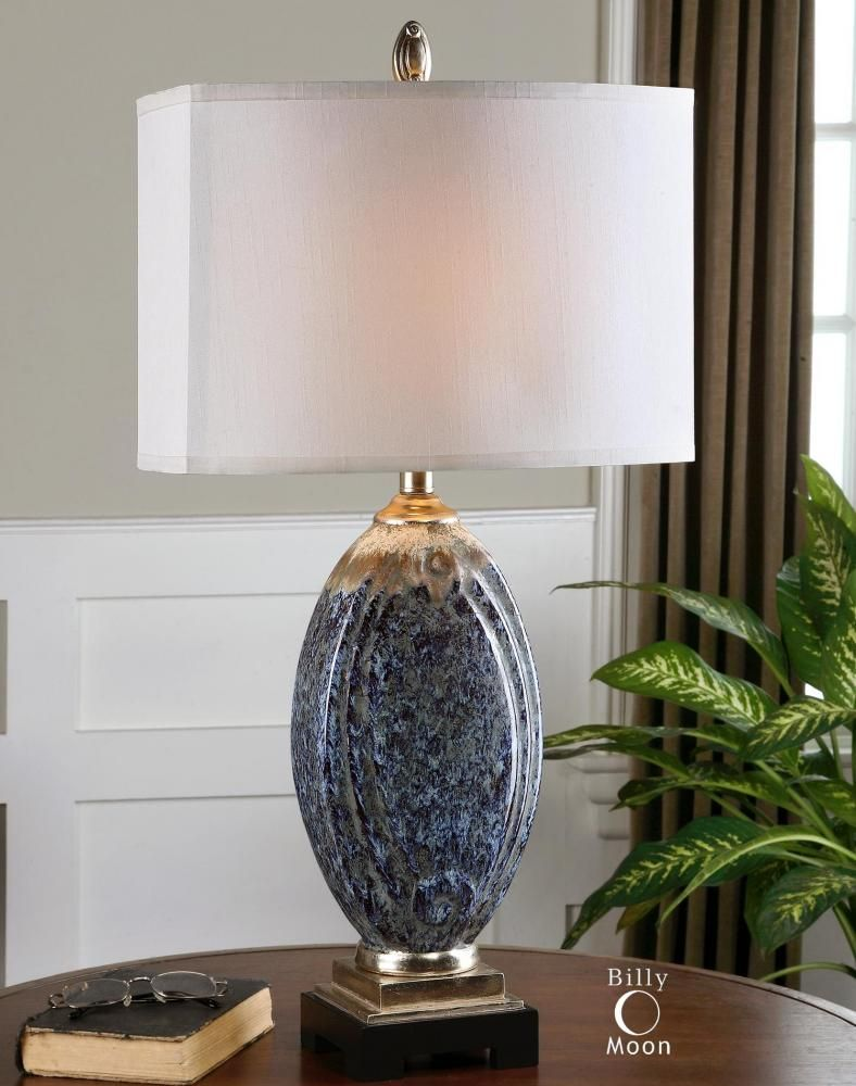 This One Light Table Lamp Is Part Of The Latah Collection And Has A Silver Champagne Details Finish Xzjk Dulle Ceramic Table Lamps Table Lamp Lamp