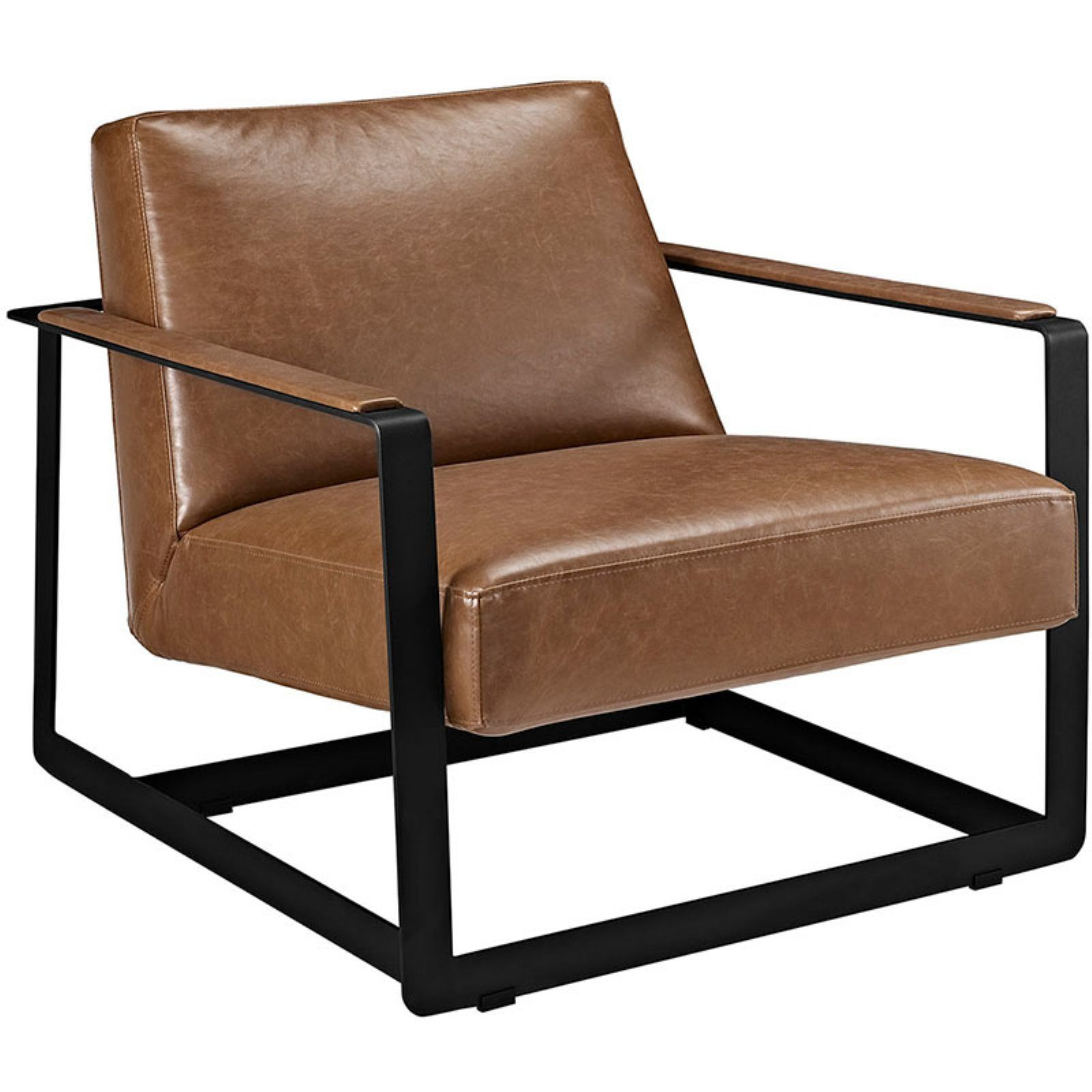 Upholstered Vinyl Accent Chair Walmart Com In 2020 Leather Accent Chair Modern Accent Chair Modern Lounge Chairs