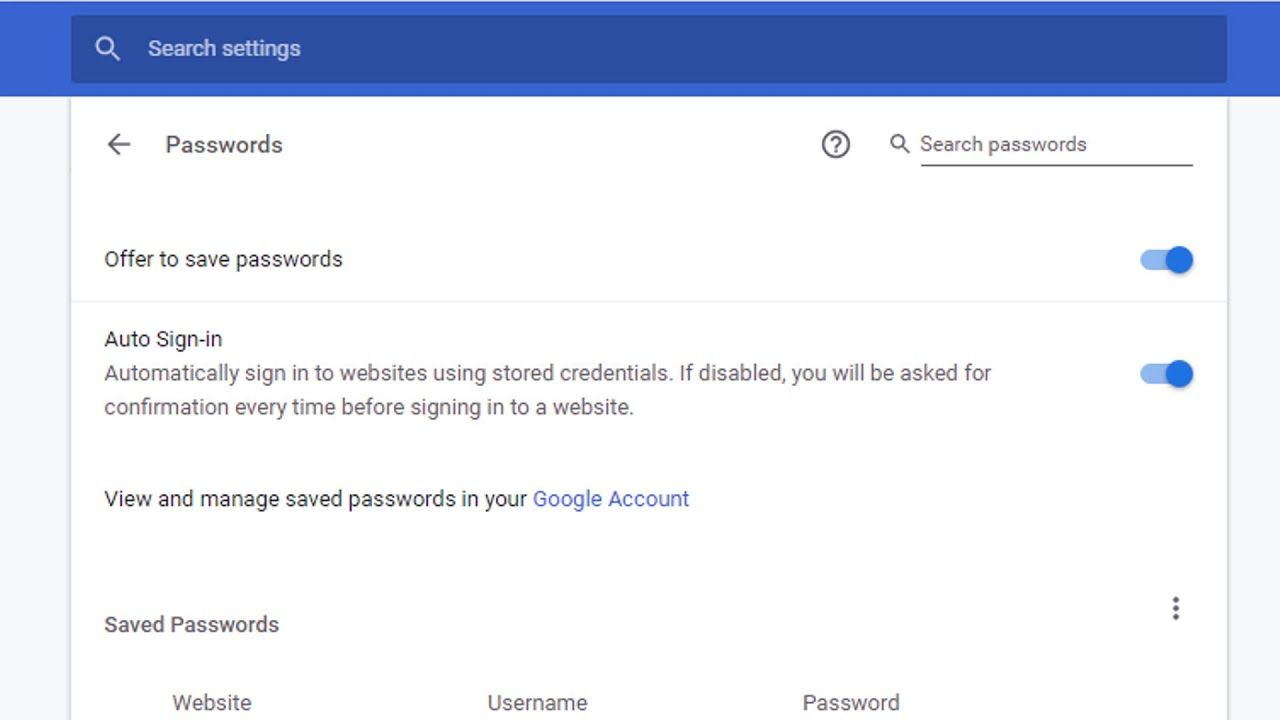 How to delete stored website passwords in chrome in 2020