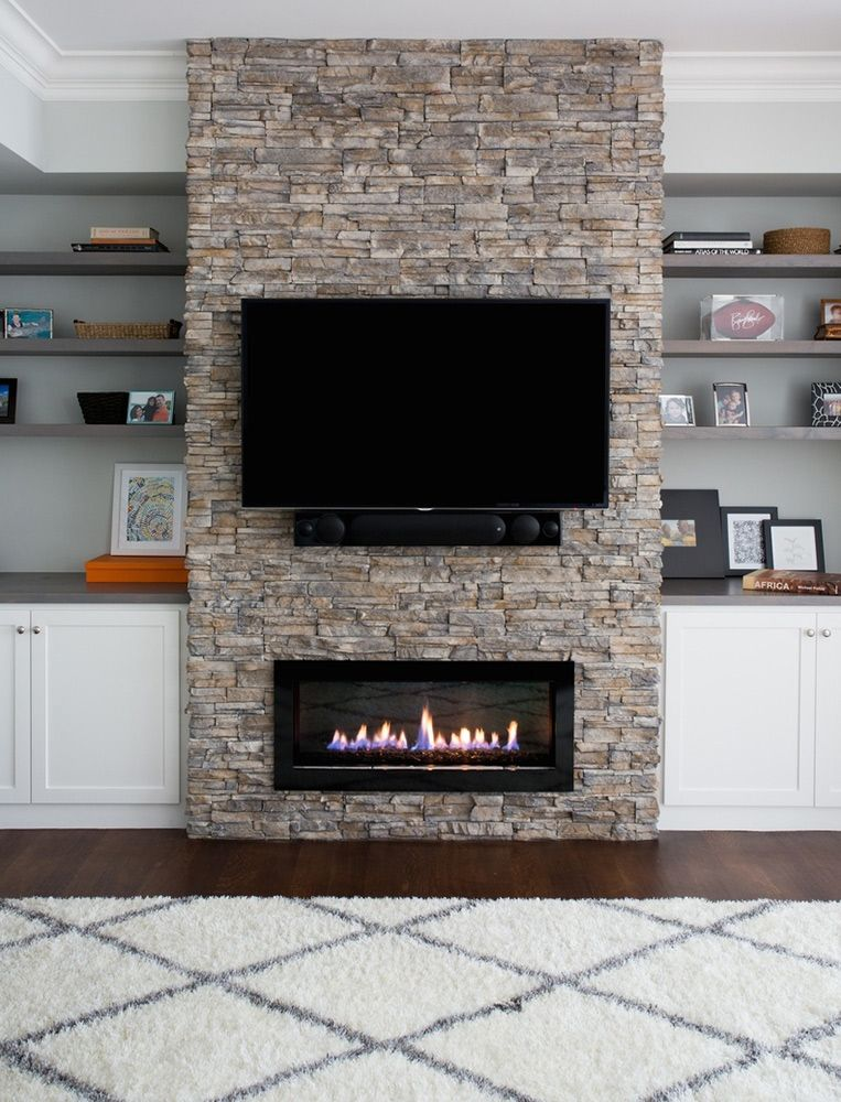Gas Fireplace With Stone Mantle By Fiorella Design Palo Alto 3
