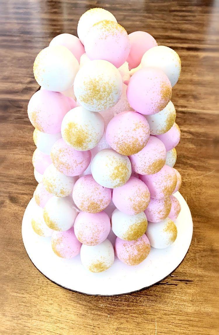 Cake pop tower how sweet eats candy melts tiny treats