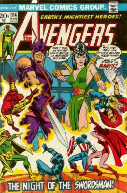 Avengers: 114 - Mantis - Swordsman - Iron Man - Vision - Thor