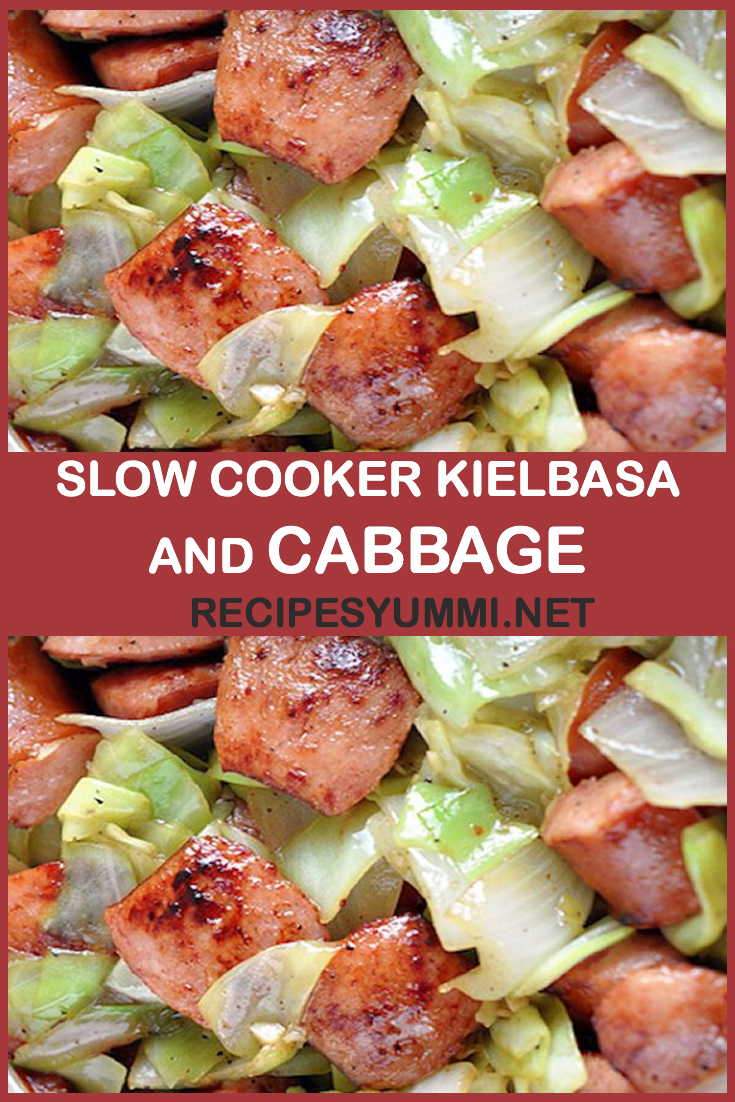 Photo of SLOW COOKER KIELBASA AND CABBAGE
