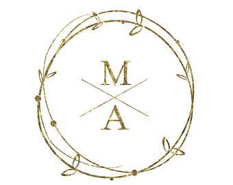 Wedding Monogram Initials Monograms Design Logo DIY