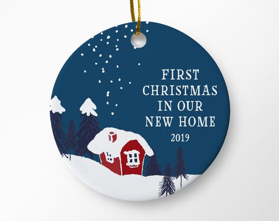 First Christmas In Our New Home 2019.New Home Ornament First Christmas In Our New Home 2019