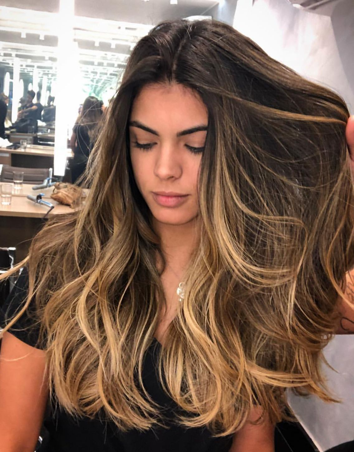 Honey Blonde Hair Color For Brunettes Balayage For