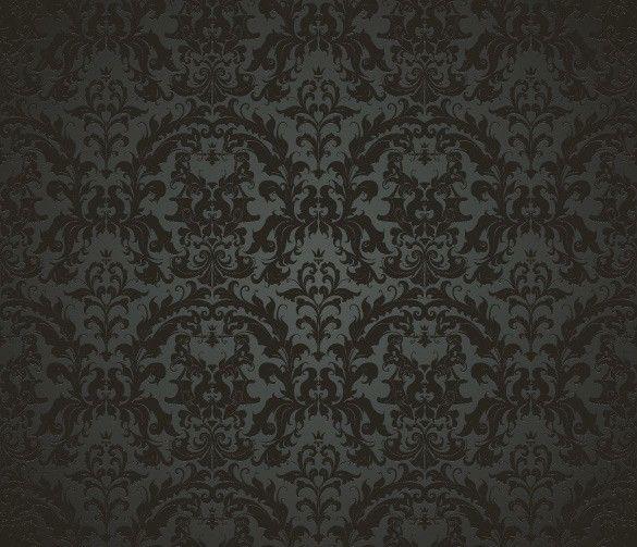 XOO Plate :: 5 Black Elegant Vintage Pattern Vector ...