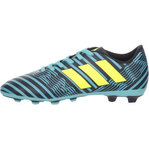 2538f6addcd ... germany adidas boys nemeziz 17.4 fxg j soccer cleats blue bright green  size 2.5 youth soccer