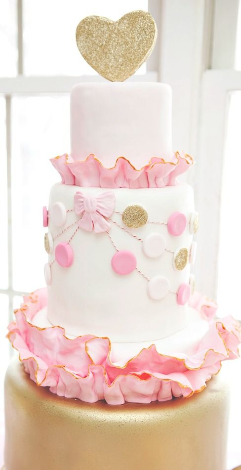 Pink Amp Gold Party Cakes Beautiful Cakes For The