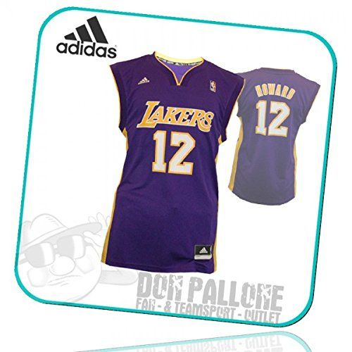 sports shoes 2b8c9 14a4f LA Lakers Adidas NBA Basketball Jersey # 12 Howard L88184 ...