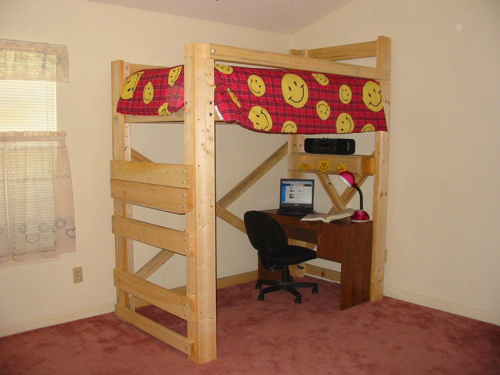 Loft Bed  diy twin bed frames  Pinterest  Diy twin bed frame