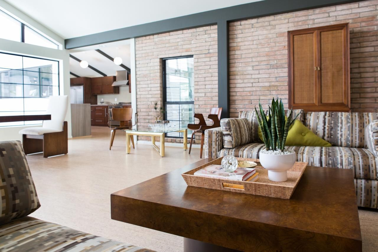 An Exposed Brick Wall Infuses This Bright Modern Living Room With A Warm  Ambiance. The Part 37