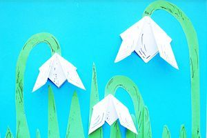 bastelanleitung für hübsche schneeglöckchen aus papier | schneeglöckchen basteln, kalender