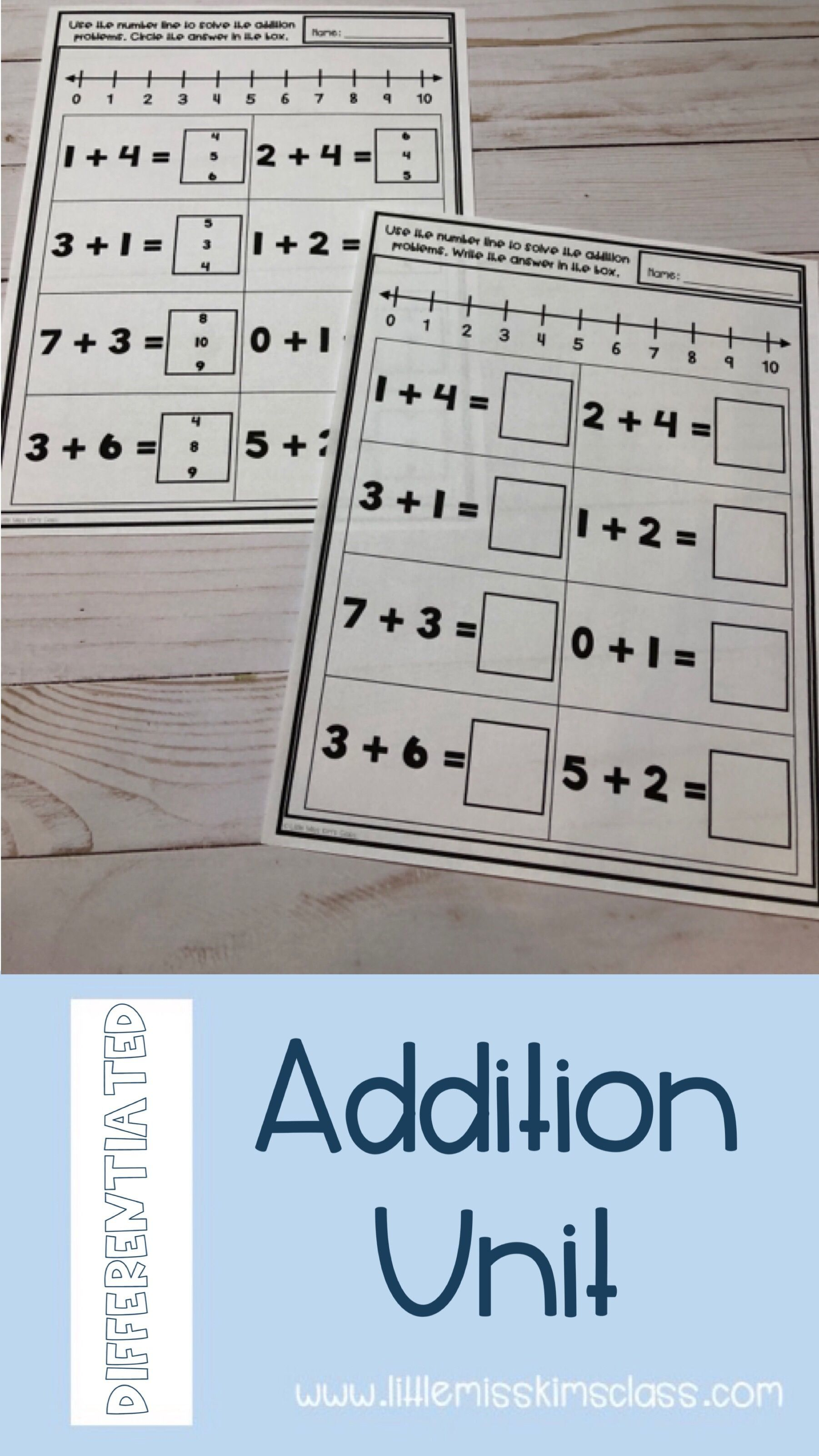 Addition Unit Within 10 For Special Education Early