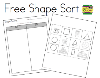 shape sorting freebie extra math kindergarten math math classroom preschool math. Black Bedroom Furniture Sets. Home Design Ideas