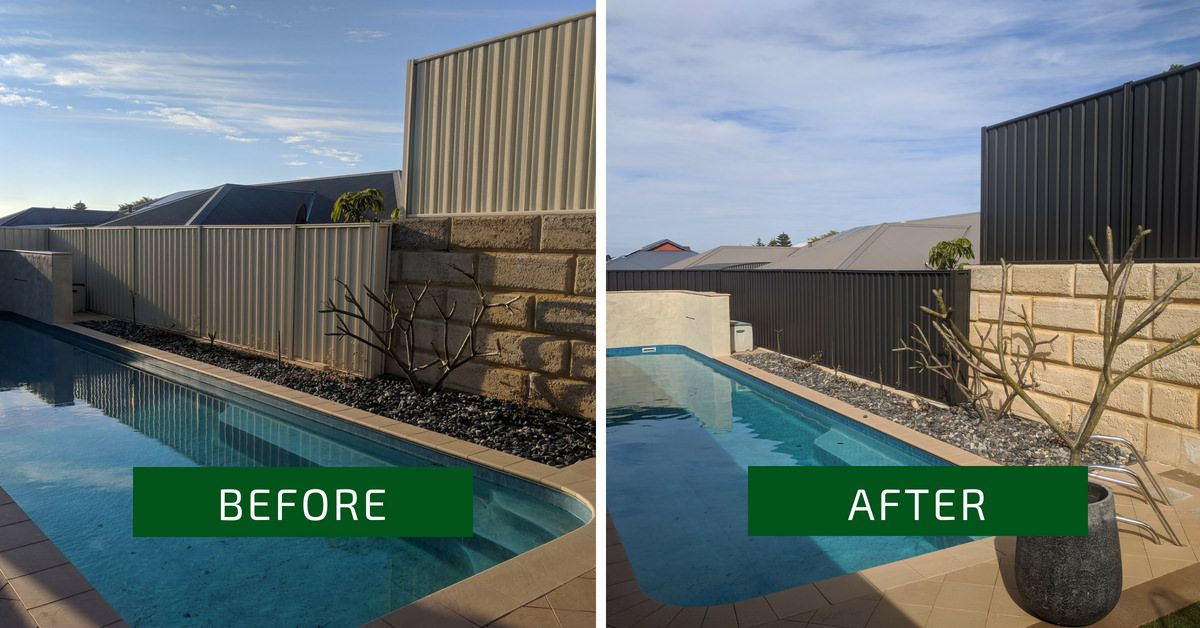 Colorbond Fence Makeover In Secret Harbour Colour Monument With
