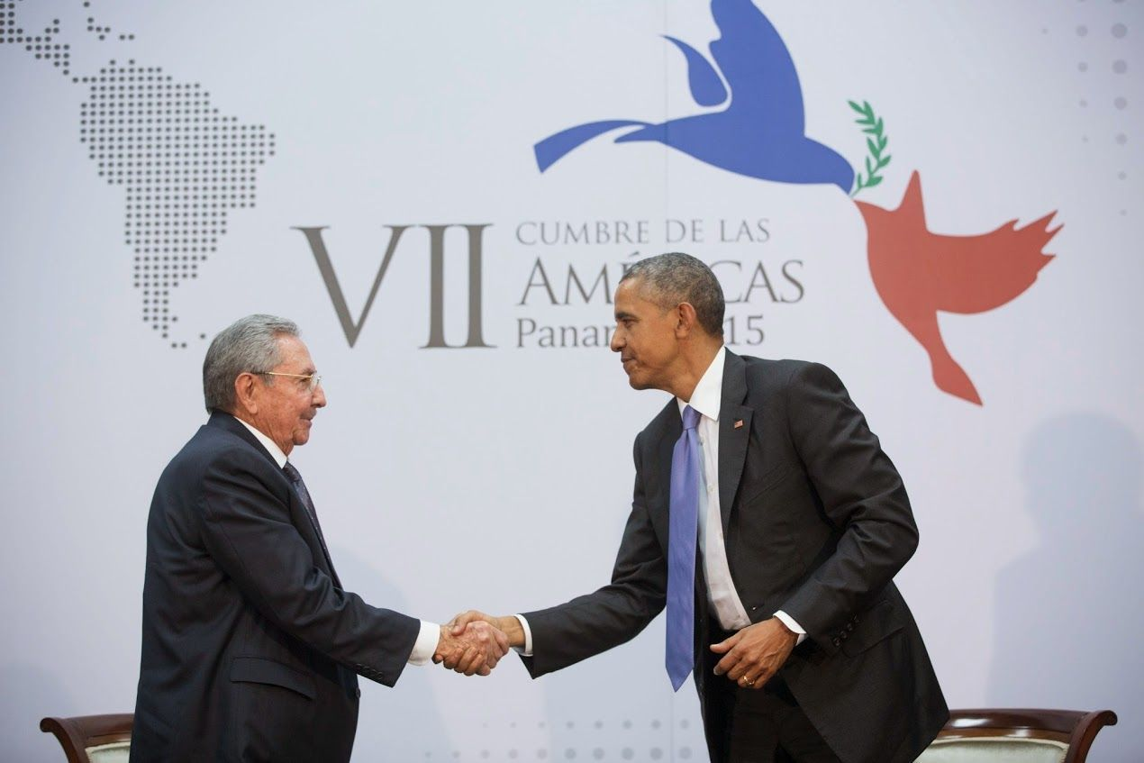 I can say with all sincerity that the essence of my policy is to do whatever I can to make sure that the people of Cuba are able to prosper and live in freedom and security, and enjoy a connection with the world where their incredible talents and ingenuity and hard work can thrive. —President Obama with Cuban President Raúl Castro in the first sit-down meeting between U.S. and Cuban leaders in more than 50 years: wh.gov/Cuba-Policy #cubanleader I can say with all sincerity that the essence #cubanleader