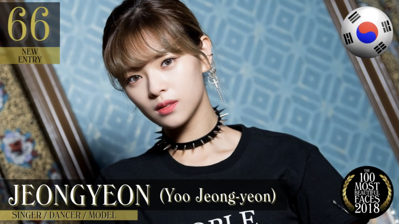 Jeongyeon Is 66th On The Top 100 Most Beautiful Faces Of 2018 List According To Tccandler 3 Jeongyeon Twice Most Beautiful Faces Kpop Girl Groups Face