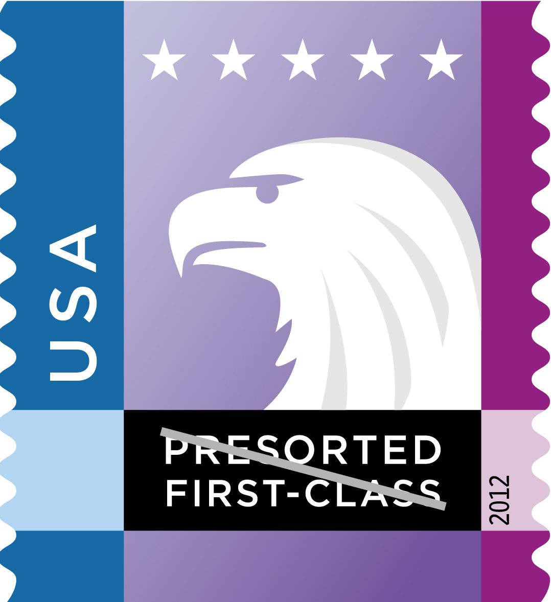 In 2012 usps issued six new presorted firstclass mail