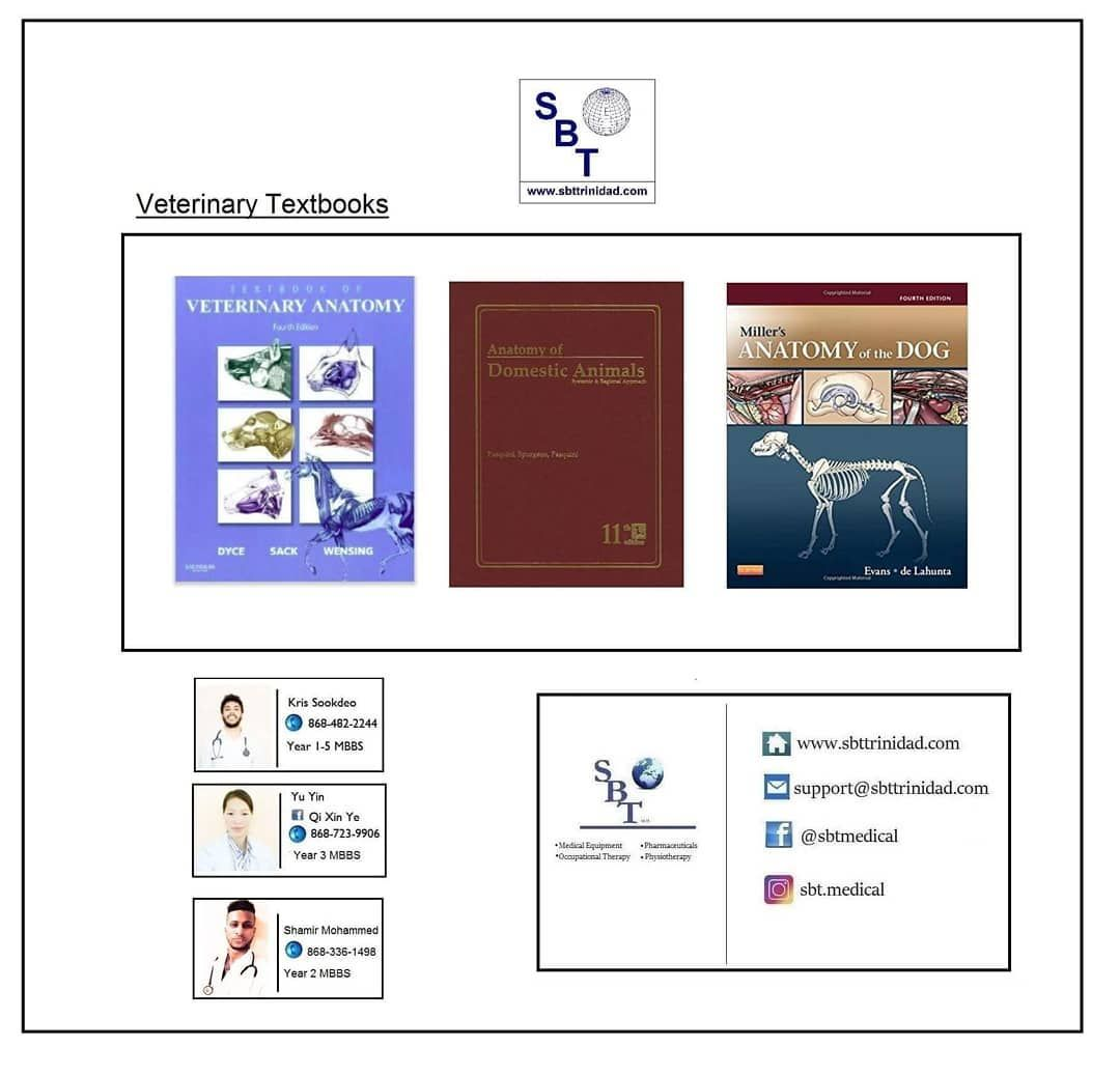 Get Your Veterinary Textbooks Today!! www.sbttrinidad.com ...
