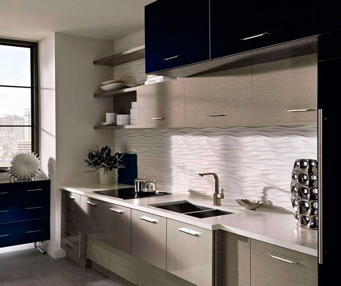 Best Acrylic Kitchen Cabinets With Melamine Accents Kitchen 640 x 480