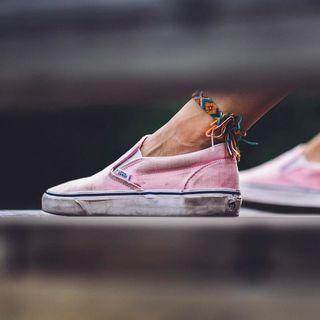 ballerina pink vans slip ons