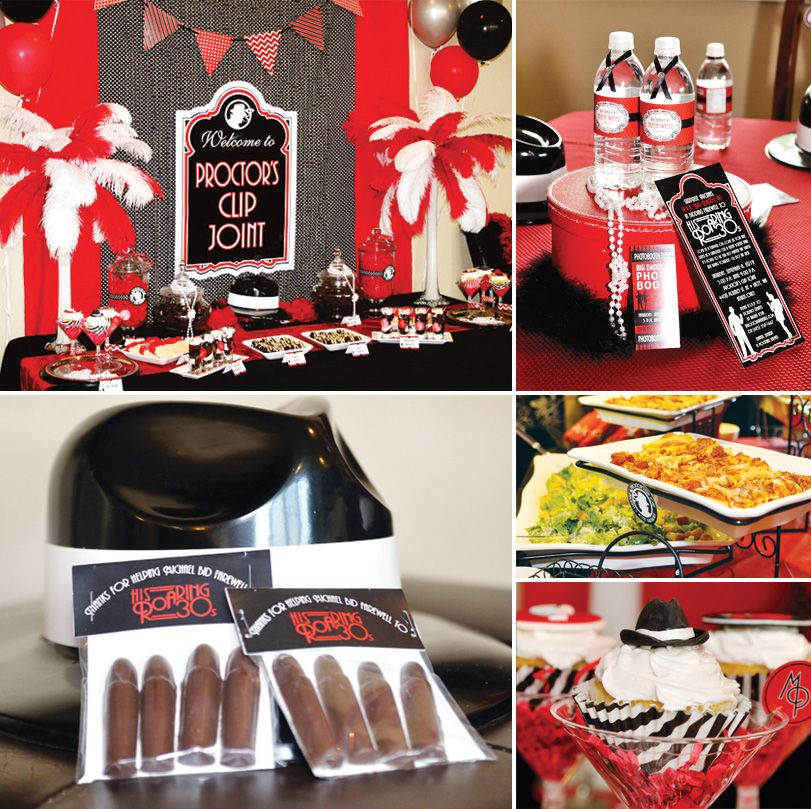 Roaring Past 30 S Gangster Party Adult Birthday Hostess With