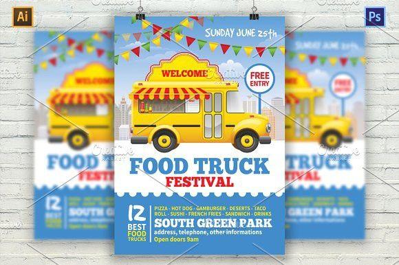 Food Truck Festival Flyer Flyer Templates Flyer Templates - Food truck flyer template