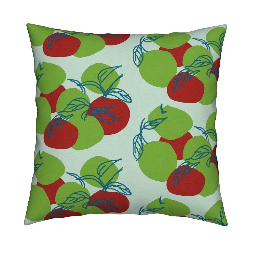 Catalan Throw Pillow featuring Apples Are  Forever by menny | Roostery Home Decor
