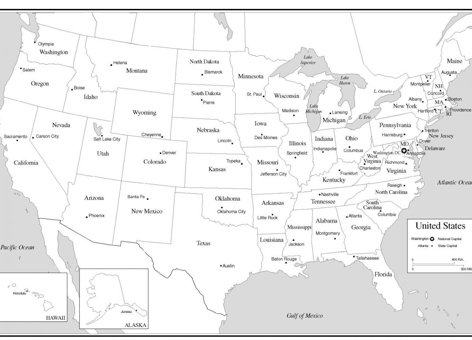 Usa States Amp Capitals Map