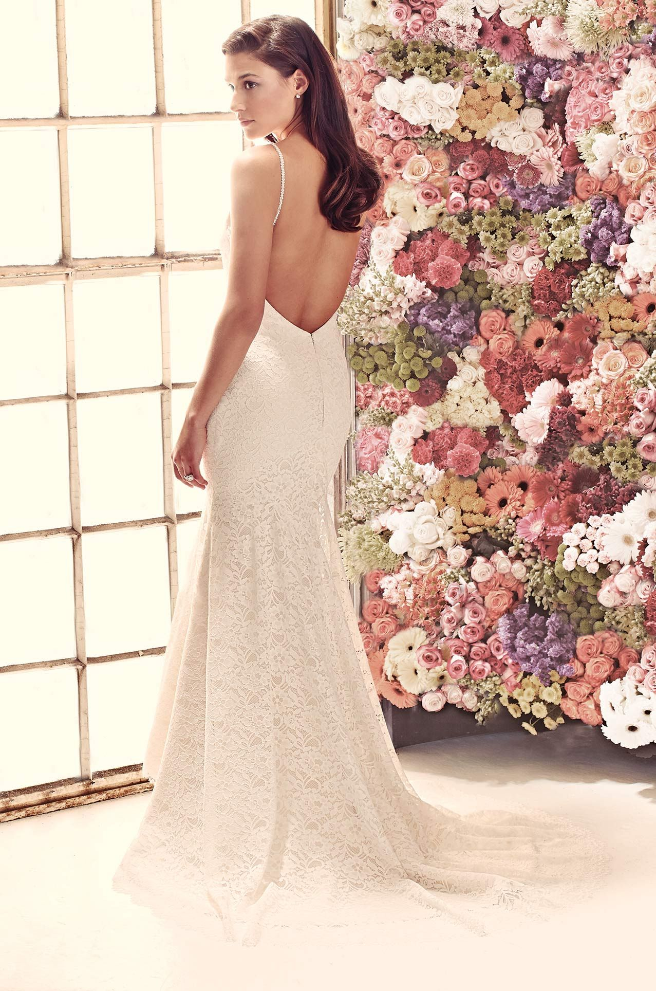 Open Back Lace Wedding Dress Style 1911 Mikaella Bridal