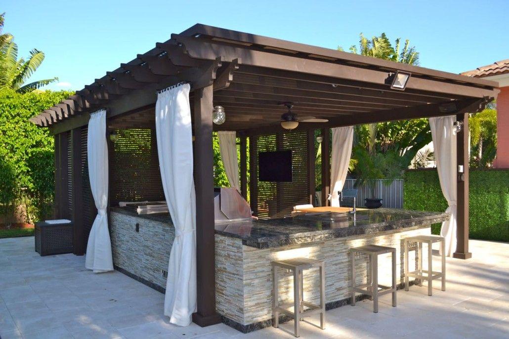 Custom Pergolas Miami Fort Lauderdale The Patio District Patio Pergola Outdoor Kitchen