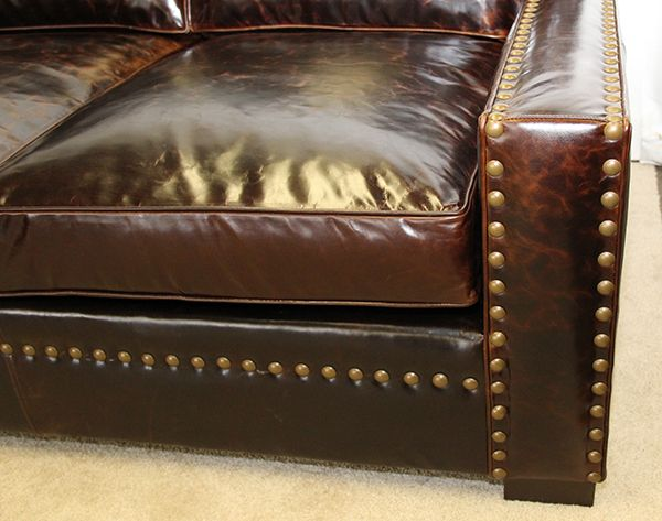 Santa Fe Sectional Arm Detail With Antique Brass Nailhead Trim With Spacing  In Brompton Cocoa. This Is The Same Nailhead Used By Ralph Lauren On The  Cape ...