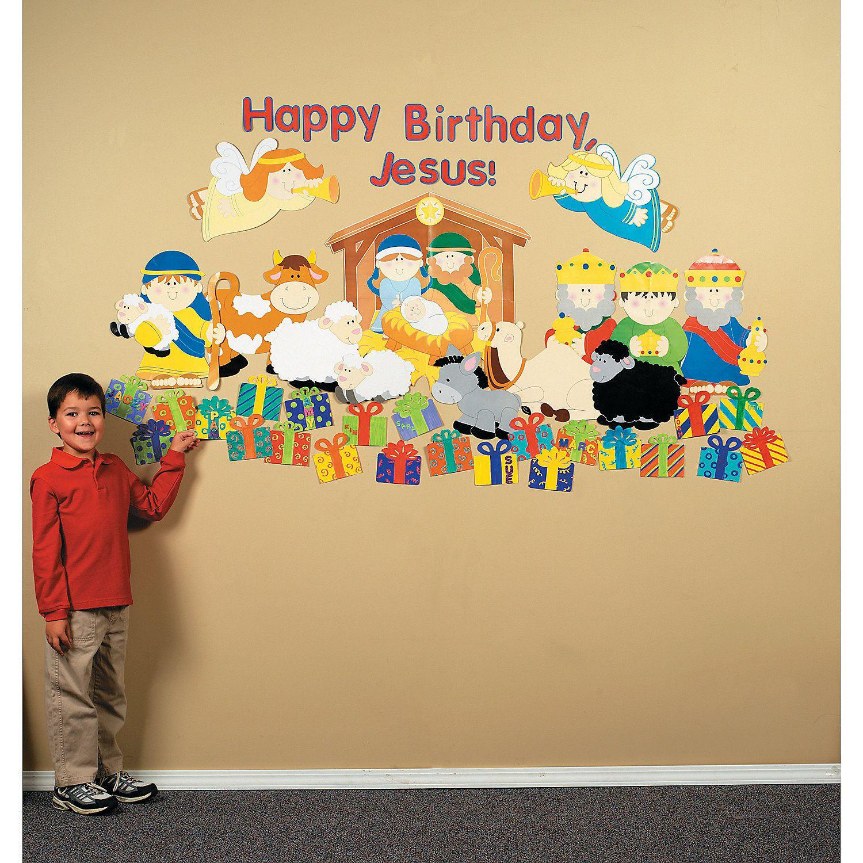"""Design Your Own """"Happy Birthday, Jesus!"""" Classroom Scene"""