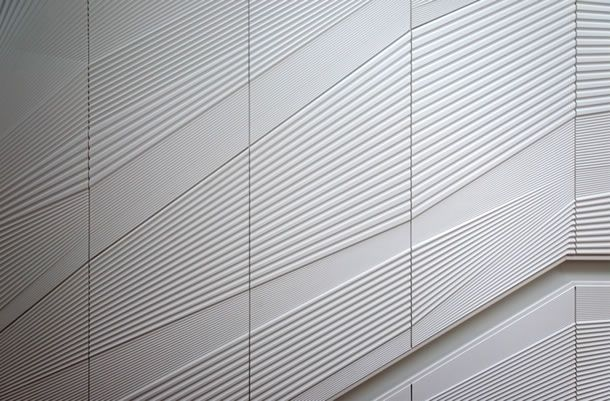 Textured Corian Panels Provide Inspiration To Leading Australian Architect For Their De Form Wall Blog Corian Architect Facade