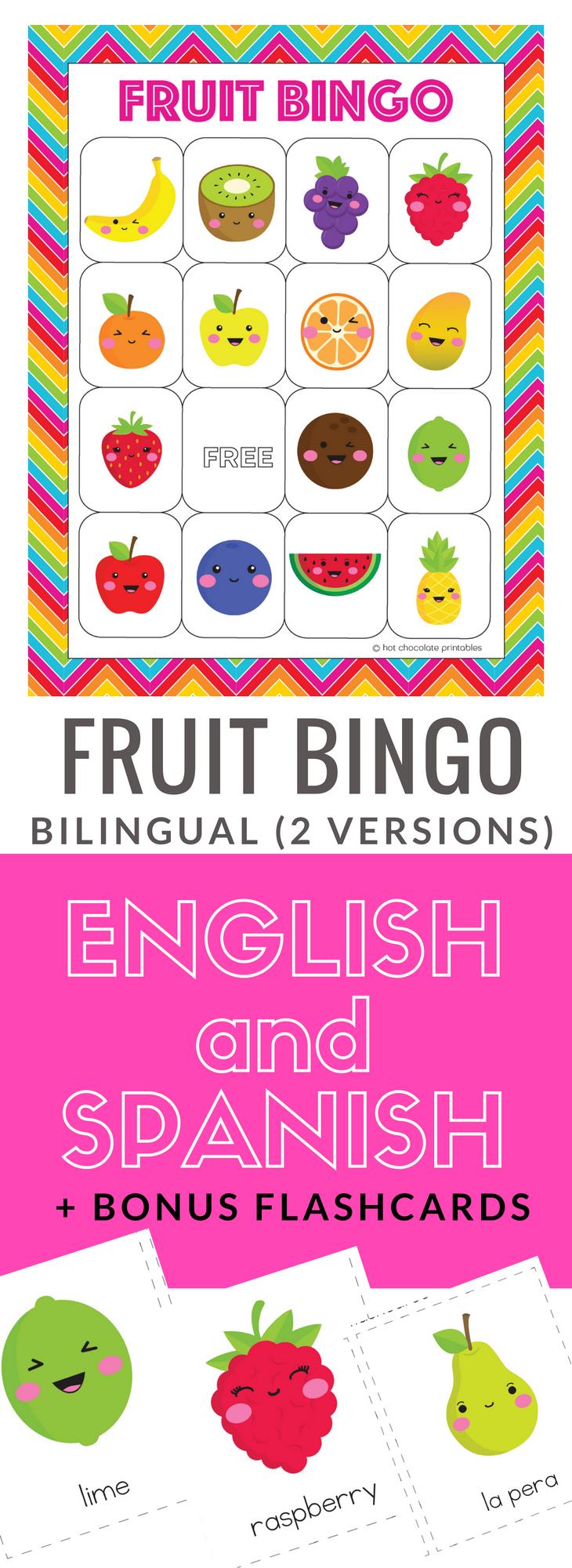 english Bingo Cards