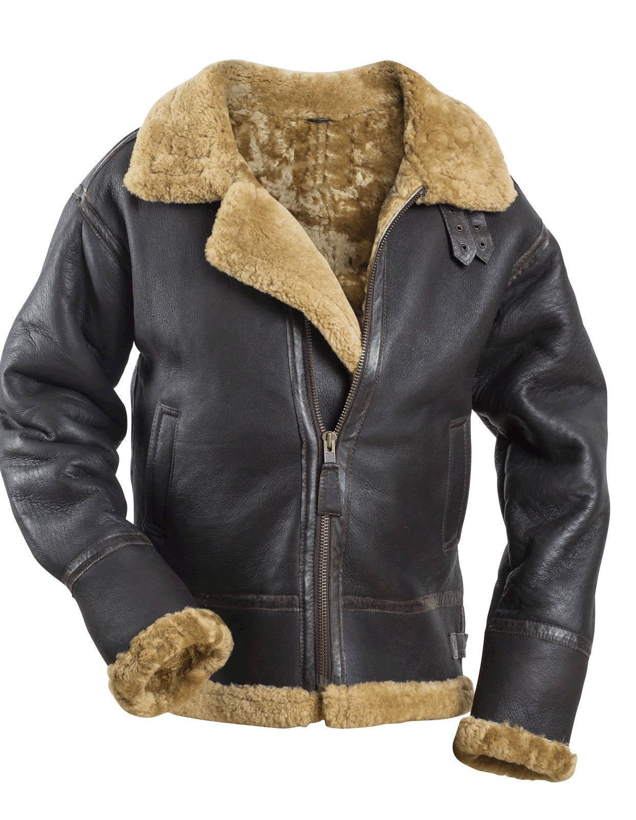 2b97fafe7455 RAF Sheepskin Bomber Jacket follows the 1938 Irvin Airchute Co. pattern. It  was worn by the pilots of the RAF during the Battle of Britain.