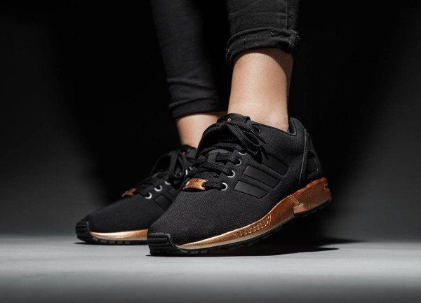 brand new 9c972 5ba21 The Women's Adidas ZX Flux Black Copper S78977 Has Been ...
