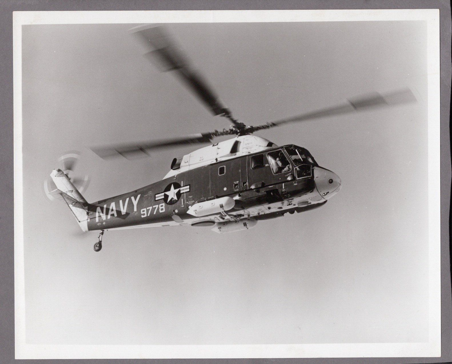 Kaman SH-2 Seasprite Helicopter Old Photo