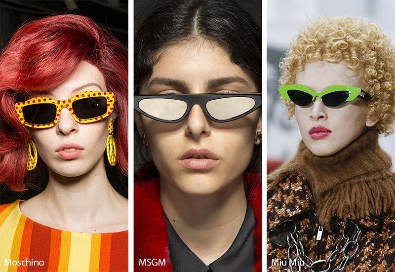 7e3a99ec67eb Fall/ Winter 2018-2019 Sunglasses Trends: Mod Futuristic Sunglasses