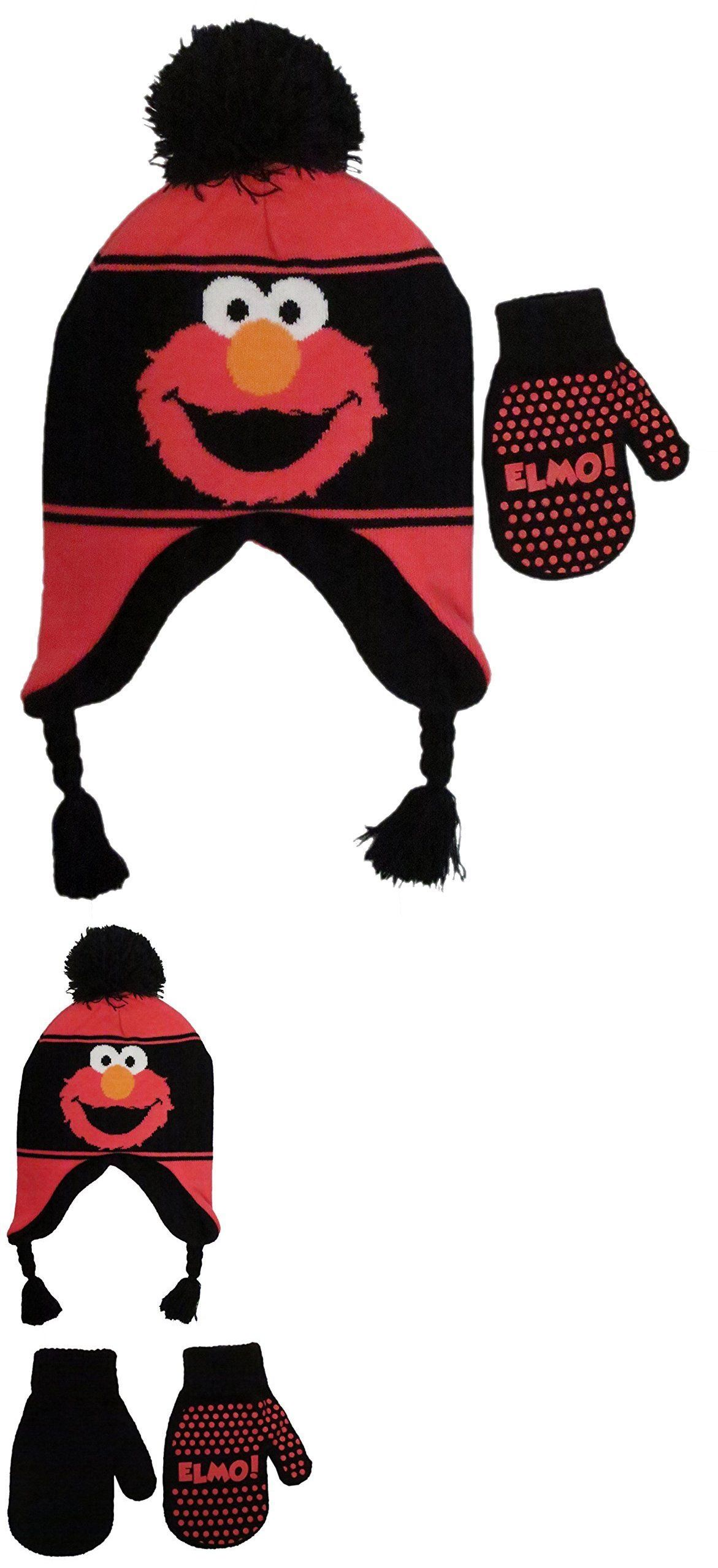 2c0395ad44da25 Hats 57884: Sesame Street Elmo Winter Hat Gloves Beanie Cap Set Kids  Children Boys Girls -> BUY IT NOW ONLY: $12.99 on #eBay #sesame #street # winter #gloves ...