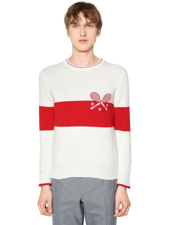 Browne a Thom de suéter tenis cachemira punto de rayas de 7ppw8d