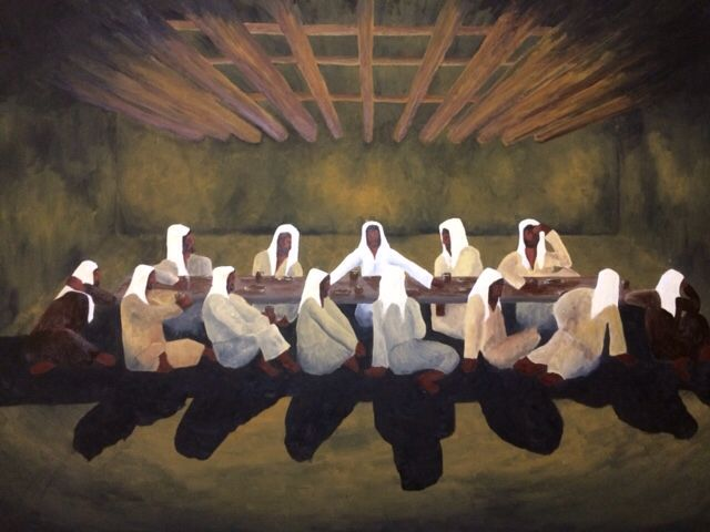 Oil On Canvas The Last Supper Arte Religiosa Ceia Desenho