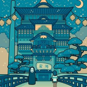 Spirited Away Bathhouse, an art print by fresh_bobatae