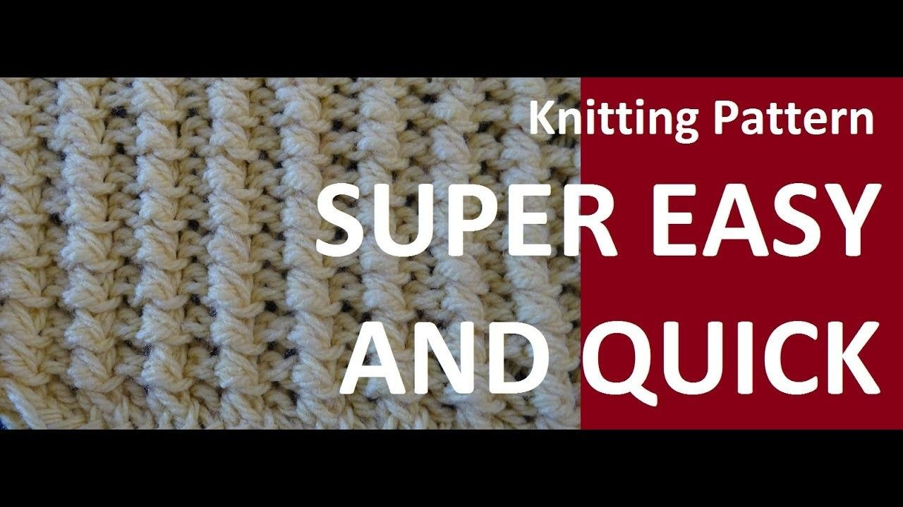 Knitting Pattern * SUPER EASY AND PRETTY * | Knitting patterns ...