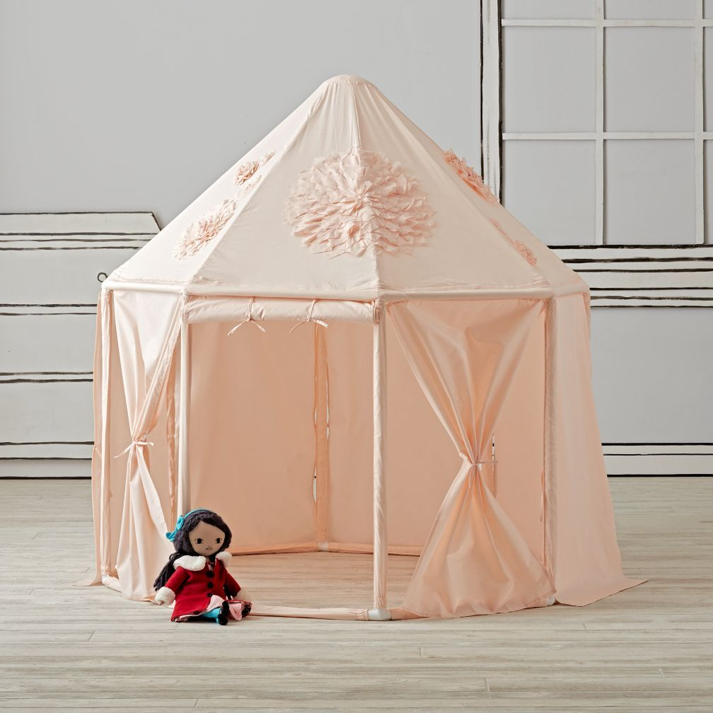 Children Furniture Sets Bright Nordic Style Childrens Indoor Tent Game House 100% Cotton Canvas Princess Castle Play House Toys Boys And Girls Baby Gifts