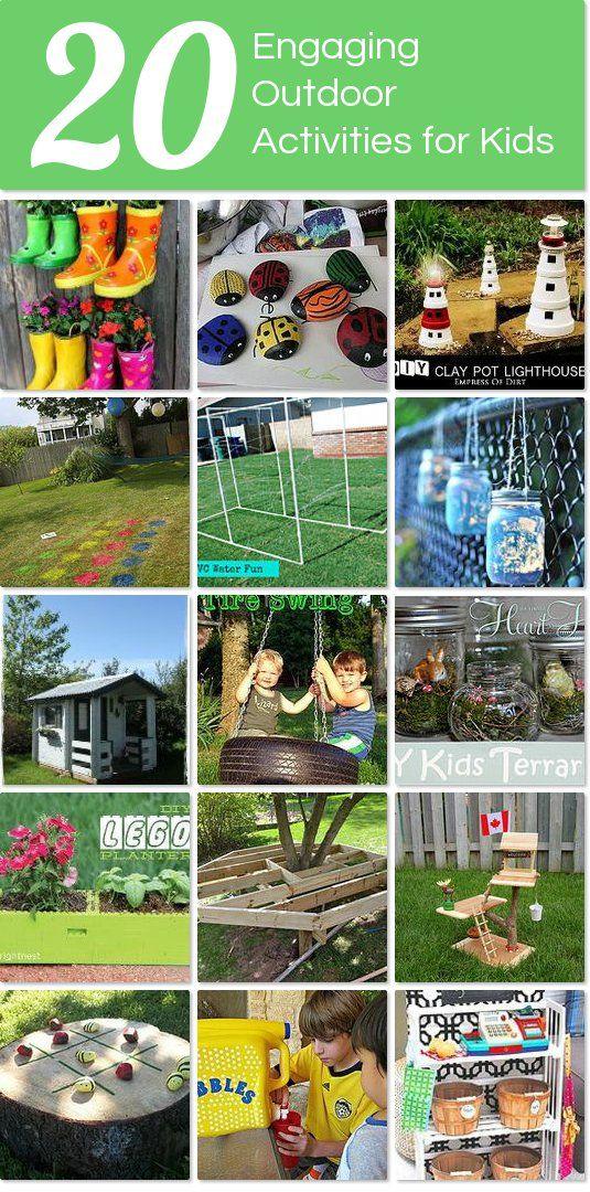 20 Engaging Outdoor Activities For Kids Outdoor Activities For Kids Fun Family Activities Camping Games Kids