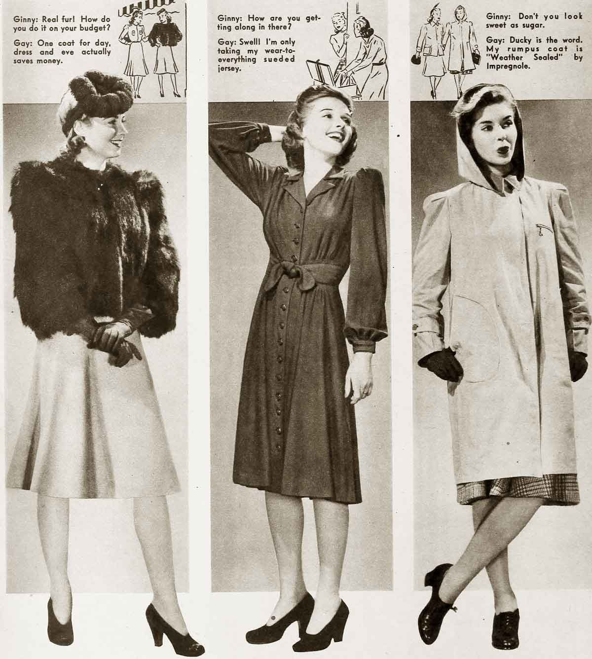 1940s fashion cool winter styles civilian wwii